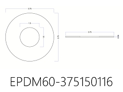 EPDM Rubber Washers - 3 1/2